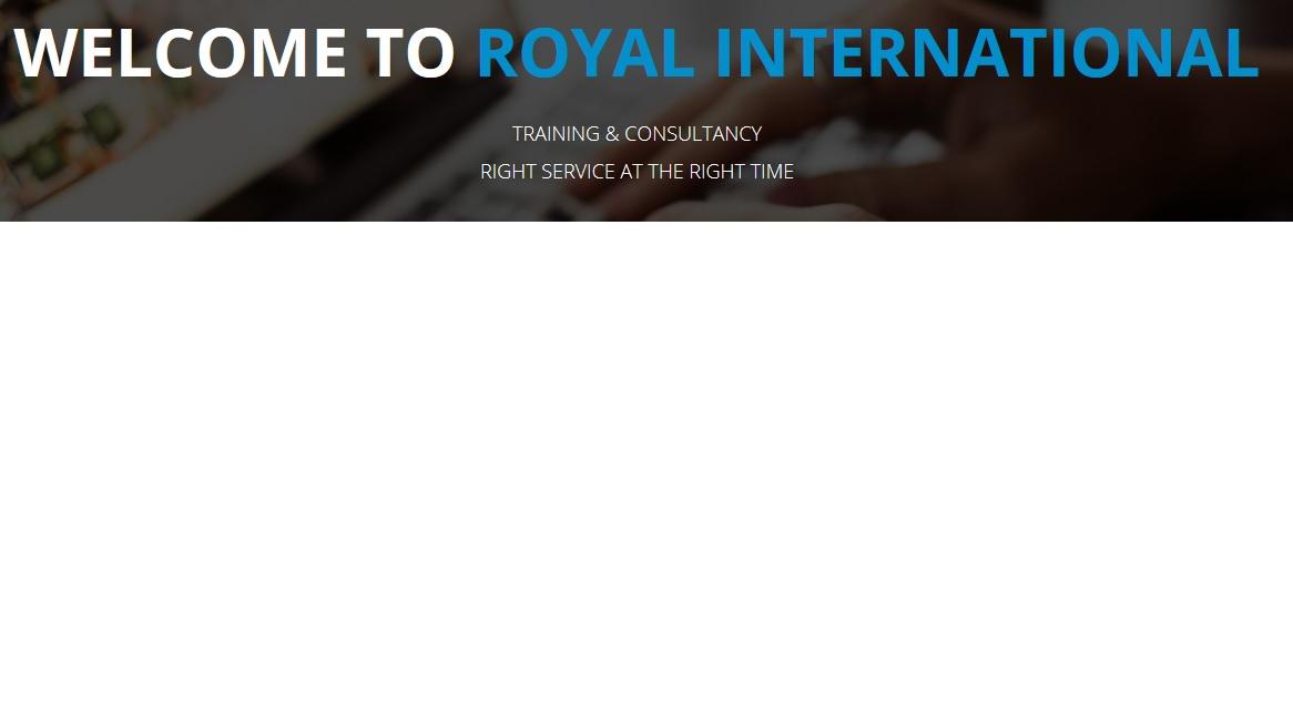 رويال الدولية للتدريب والاستشارات المحدودة, ROYAL INTERNATIONAL TRAINING & CONSULTANCY L.L.C-UAEplusplus.com